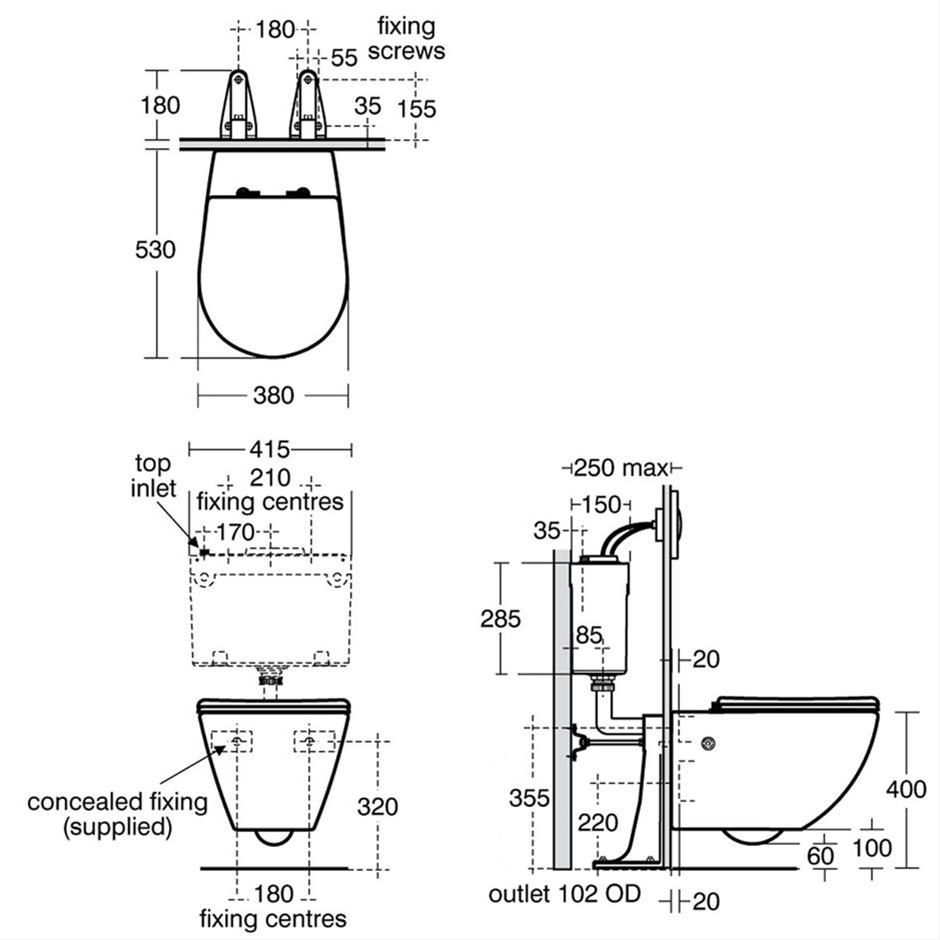 White Wall Mounted WC Suite | Wall Hung Toilets | Toilets | Bluebook