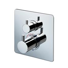 Basento Slim Square built-in thermostatic shower mixer