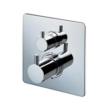 Basento Slim Square built-in thermostatic shower mixer with diverter